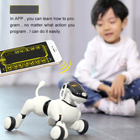 Toy Dog 1803 Voice &App Controlled Robot AI Dog Bluetooth Connection Touch Motion Smart Electronic AI Pet Dog Toy For Children