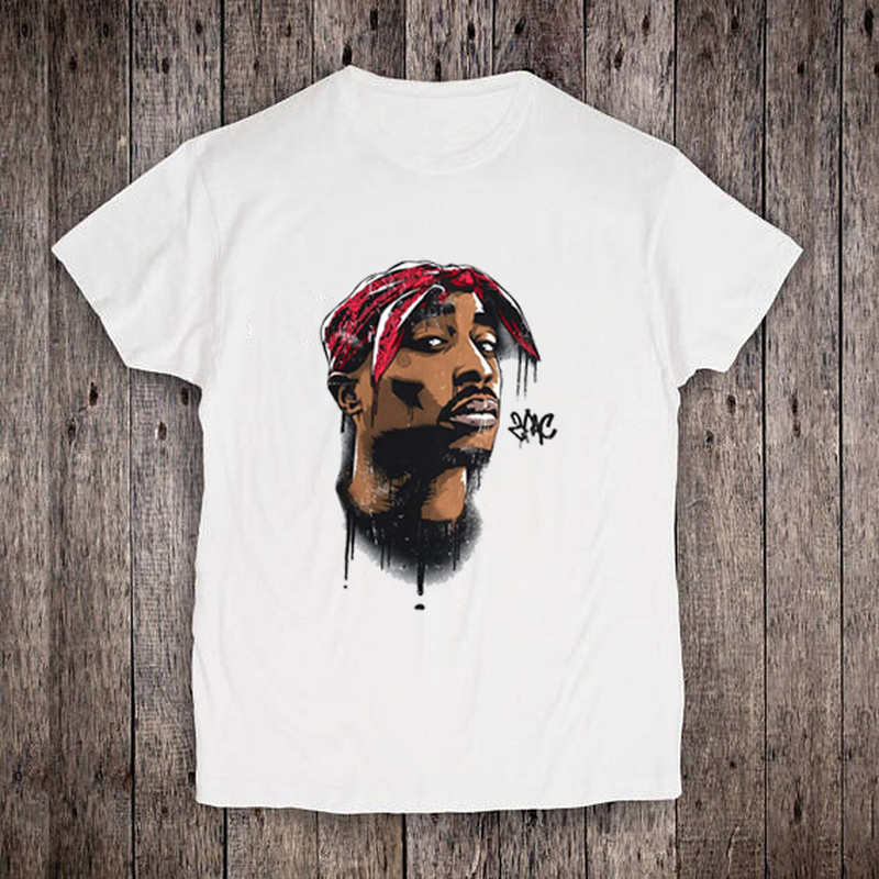 Boys T-Shirt Hipster Tupac 2pac Baby Kids Tops Streetwear Printed Harajuku Casual Hip-Hop-Style title=