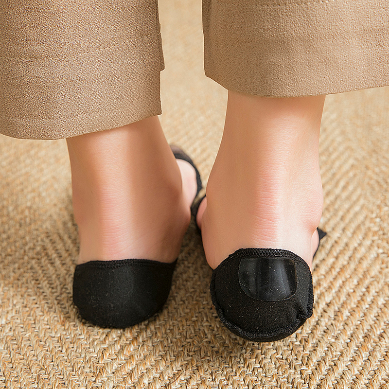 3 Pair Of Women Invisible Toe Sock  With Solid Color Nylon Lace For Summer Slippers 5