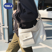 2021 White Cool Large Capacity Waist Bag Canvas Fanny Pack Men Women Big Blet Bag Multi-Functional Chest Bags Banana Waist Packs