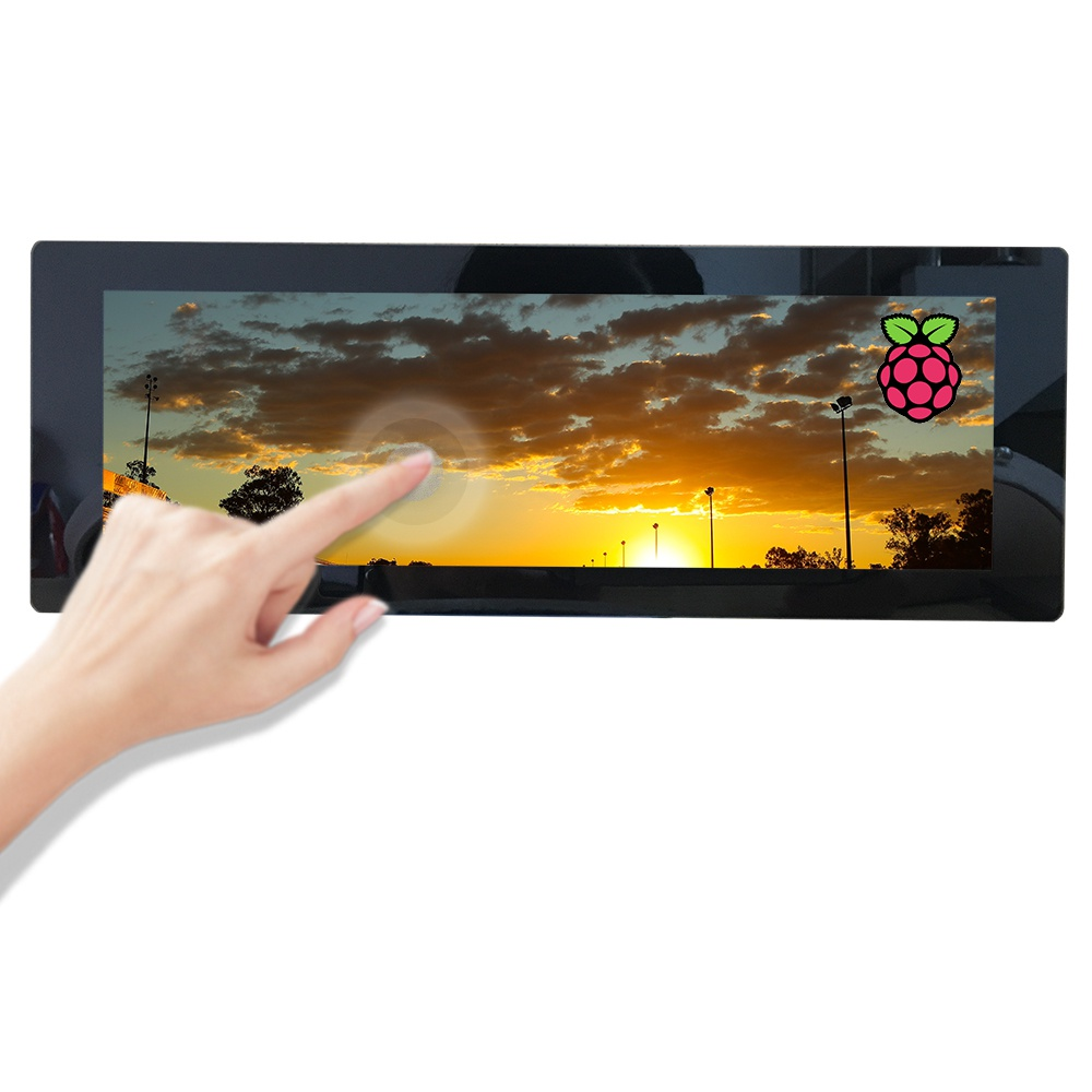 7.9inch 400x1280 IPS Touchscreen mini Monitor, HDMI LCD Display Touch Screen for Raspberry Pi Windows 10 8.1 8 7, Driver Free