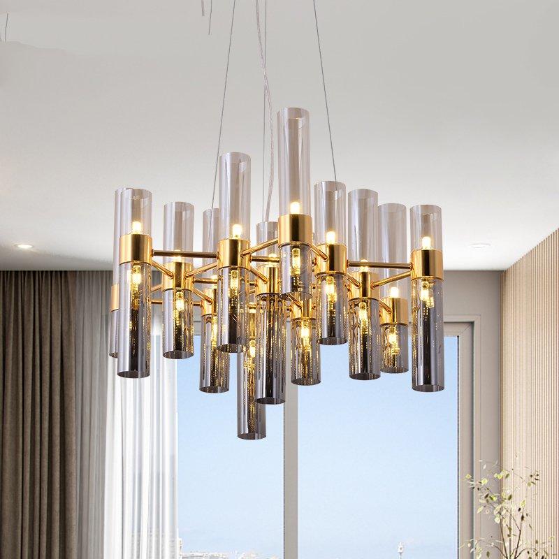 Modern Luxury Glass Pendant Lights Modern Lustre Led Hanging Lamp For Living Room Vill Pendant Lamp Home Decor Light Fixtures