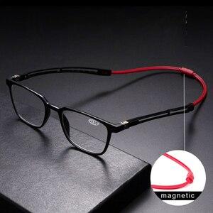 Image 1 - Tr90 leitores óculos de leitura homem feminino ímã portátil diopter pendurado pescoço 1.0 1.5 2.0 2.5 3.0 3.5