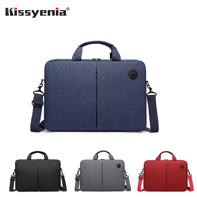 Kissyenia 14inch Solid Color Business Laptop Briefcase Men Simple Design Inner Bag For Macbook Portfolio Travel Handbag KS1347