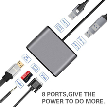 AIREACH USB HDMI Type c Hdmi mac 3.1 convertisseur adaptateur Type vers hdmi HDMI/USB 3.0 2.0/VGA Audio TF pour Apple Macbook adaptateur