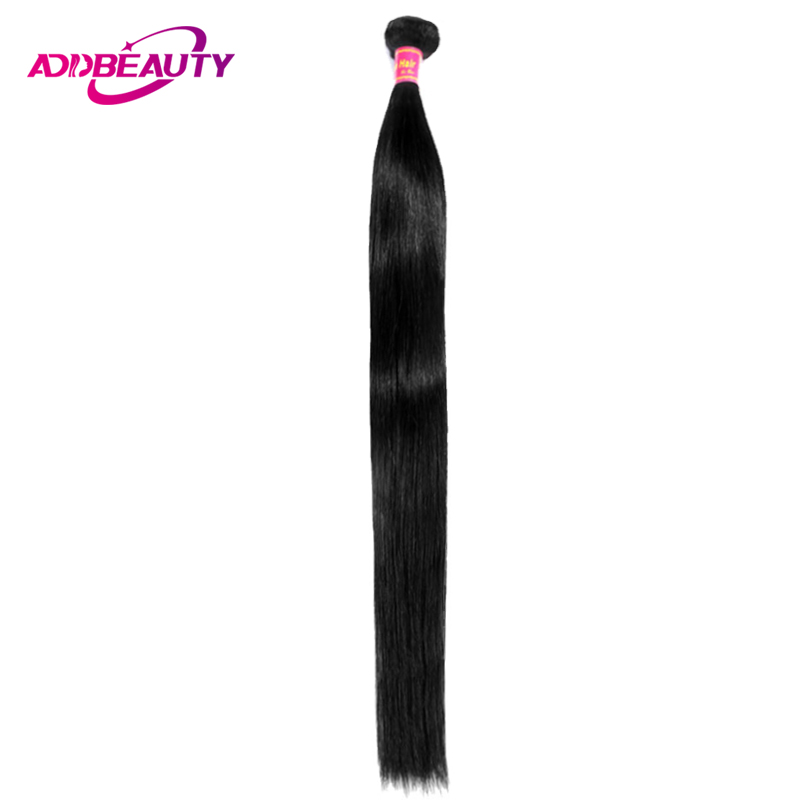 Addbeauty 30 32 34 36 38 40 Inch Brazilian Remy Hair Weave Bundles Straight Human Hair Extensions Natural Color Double Drawn