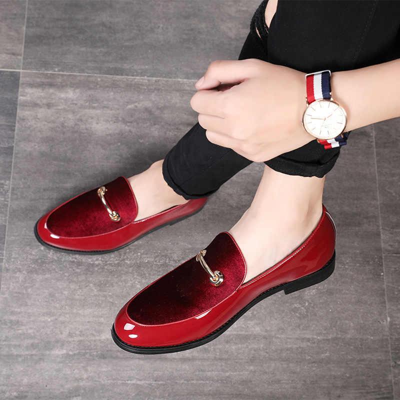 עור עסקי zapatos דה hombre vestir לבוש הרשמי קלאסי נעליים לגברים זכר אחד רגל סט פנאי אופנה איטלקי נעליים