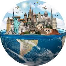 Terra quebra-cabeça 1000 peças/redondo quebra-cabeça céu estrelado adulto crianças planetas puzzle brinquedo jogos educativos e puzzl crianças brinquedos