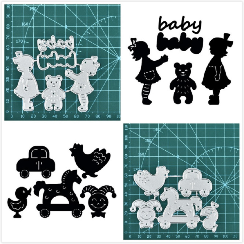 It Is A Girl Boy Metal Cutting Dies Stencils Scrapbooking Embossing Card Craft