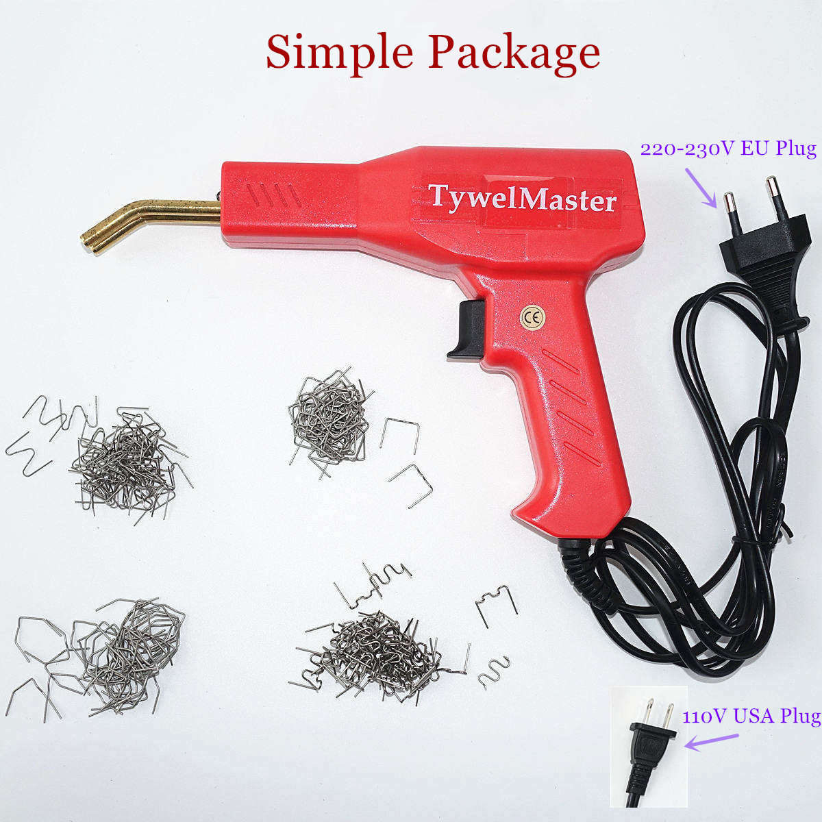 Tools : Handy Plastic Welder Garage Tools Hot Staplers Machine Staple PVC Plastic Repairing Machine Car Bumper Repair Hot Stapler