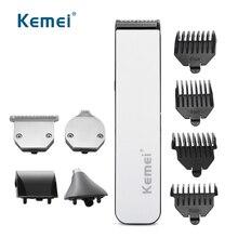 Профессиональная машинка для стрижки волос Kemei, Беспроводная Машинка для стрижки волос, триммер Oneblade, перезаряжаемая 5 в 1, 220-240 В, Парикмахерская машина для салона