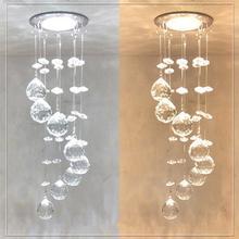 Suspensión nueva LED de cristal colgante 3W pequeño pasillo de la lámpara del techo balcón pasillo luces sala de estar iluminación de luz interior