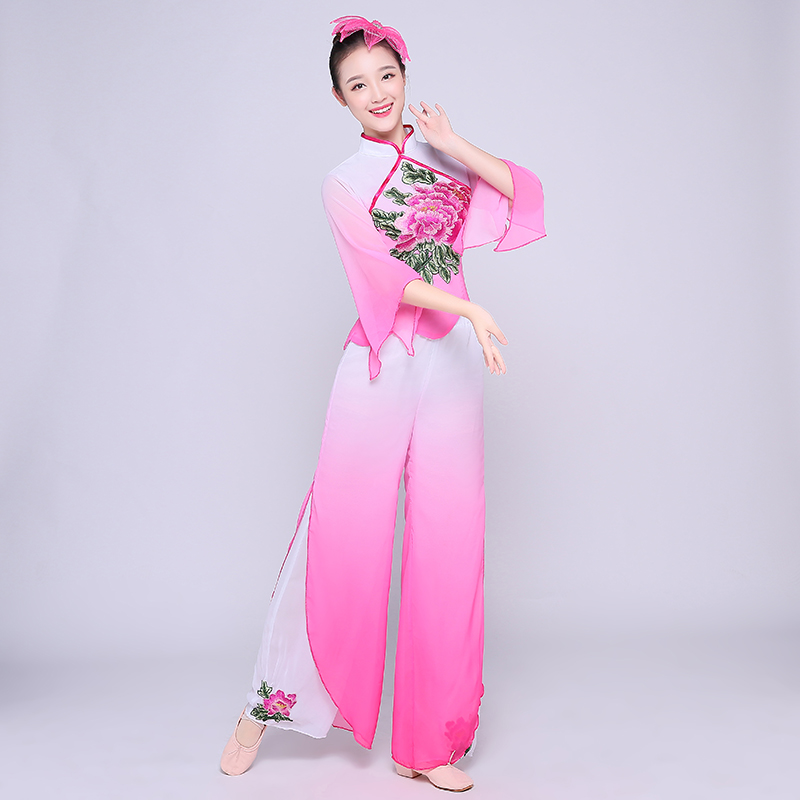 <font><b>Festival</b></font> <font><b>Outfit</b></font> Brand Hot Ladies Yangko Clothes Costume Spring Square Dance National Dance Costume Fan Dance Performance Costume image