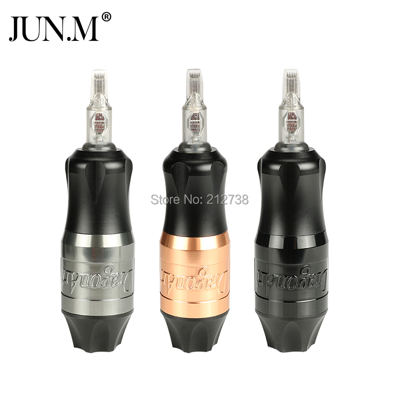 New Storm Short Pen Rotary Cartridge Tattoo Machine Strong Motor RCA Connection Professional Tattoo Artist Permanent Makeup