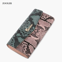 2019 Luxury COW wallets designer woman leather bag ZOOLER day clutches patchwork cow wallet card holder purse girl -A101