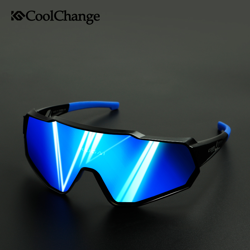 CoolChange Polarized Cycling Glasses Running Riding UV400 Bike Sunglasses Outdoor Sports MTB Bicycle Goggles Eyewear Men Women