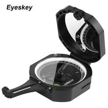 Eyeskey Brújula de tránsito de bolsillo profesional, brújula geológica de supervivencia para exteriores, ligera y resistente al agua, navegador en el bosque