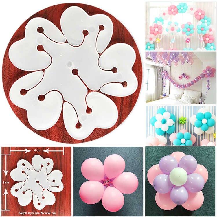 5 pcs/lot grande fleur en forme de prune fleur clip ballon accessoires en plastique clip Globos mariage fête d'anniversaire décoration fournitures