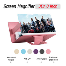 Magnifier Screen-Amplifier Stand Bracket-Holder Cell-Phone Mobile HD Besegad with Case