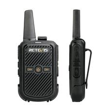 Retevis RT15 미니 워키 토키 라디오 2pcs 2W UHF 400 470MHz 라디오 방송국 복스 양방향 라디오 Comunicador 캠핑 사냥 하이킹