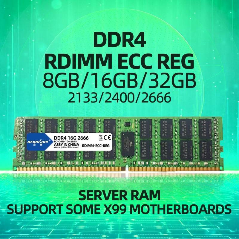 DDR4 32GB ecc reg ram 2133MHz 2400MHz 2666MHz PC4 RDIMM compatible 8GB 16GB 1