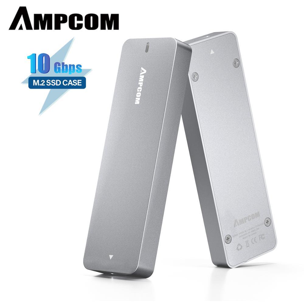 Адаптер корпуса AMPCOM M.2 NVME SSD, PCIe SSD (M Key) к USB 3,1 GEN 2, внешний твердотельный накопитель со скоростью до 10 Гбит/с