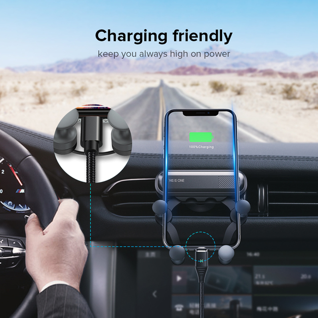 Gravity Car Holder For Phone in Car Air Vent Clip Mount No Magnetic Mobile Phone Holder GPS Stand For iPhone XS MAX Xiaomi 4