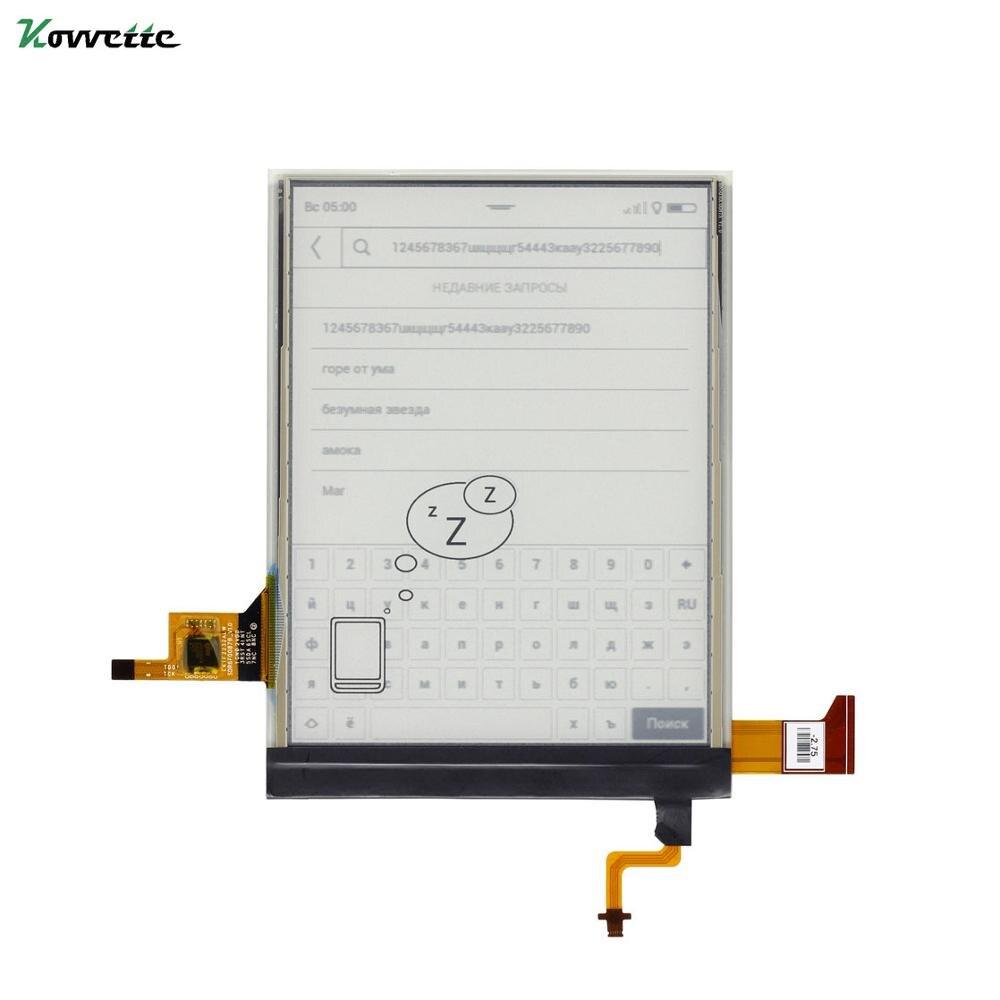 6 ''E ekran atramentowy ED060XCD dla PocketBook Touch Lux 4 PB627 ekran wyświetlacza ED060XH7