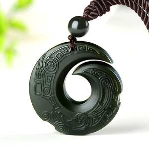 Natural Hetian Jade Pendant Necklace Jadeite Jewelry for Men Gifts Buddhist Lucky Carved Fashion Charm Women Amulet