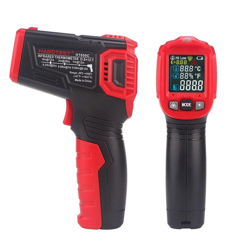 Habotest HT650C температура влажности измерительный гигрометр  цифровой термометр инфракрасный лазерный термометр метеостанцияПриборы  для измерения температуры   -