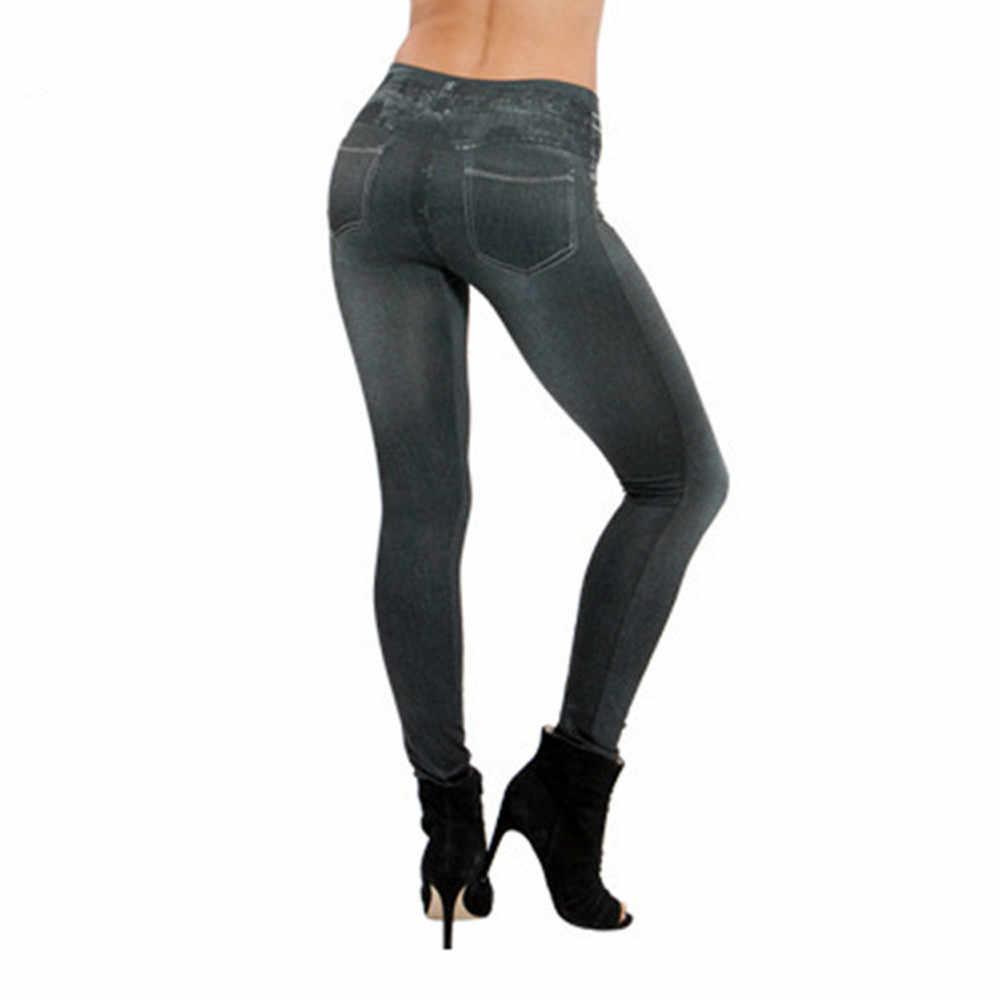 S-XXL Women Fleece Lined Winter Jegging Jeans Genie Slim Fashion Jeggings Leggings 2 Real Pockets Woman Fitness Pants #1016