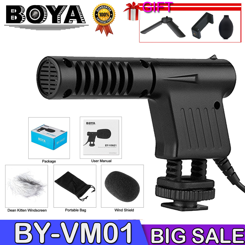 Boya BY-VM01 Professional Video & Broadcast Directional Studio Condenser Microphone For Canon Sony Gopro DSLR Camera Camcorder