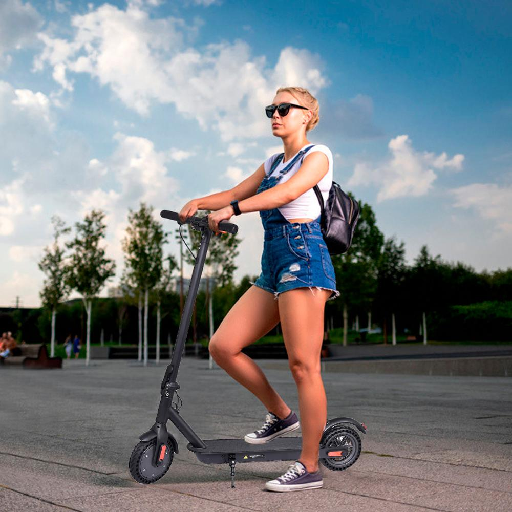 Household <font><b>Electric</b></font> <font><b>Scooter</b></font> 8.5 Inch Foldable Solid Tire <font><b>Scooter</b></font> 250W <font><b>Motor</b></font> 42V 1.5A 25km/h 15~25km Battery For Adults & Teenager image