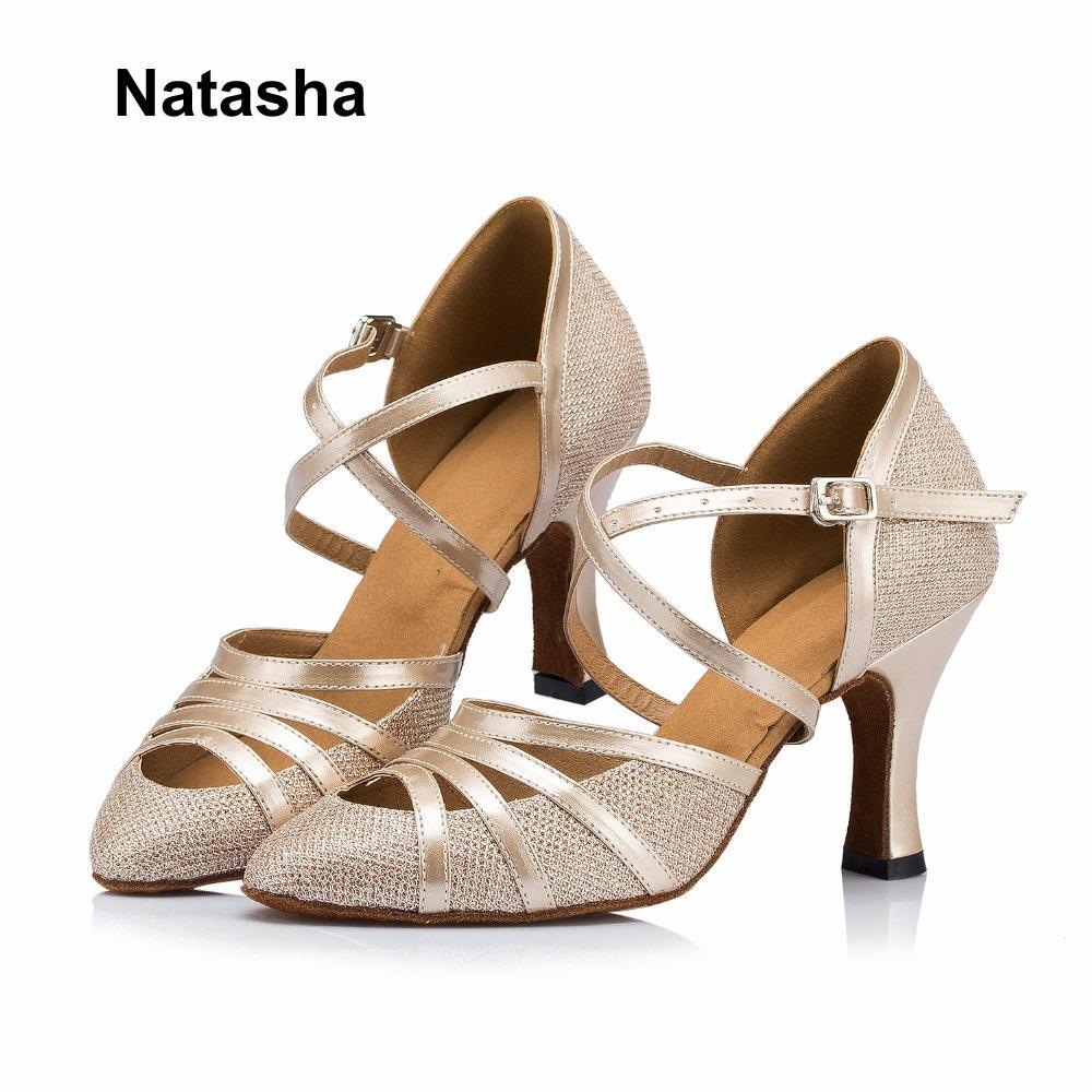 Natasha Silver Dance Shoes Black Latin Shoe National Standard Latin Dance Dance Adult Shoes Dance.