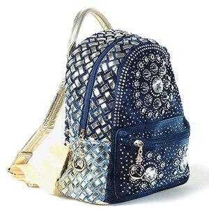 Image 2 - IPinee 2019 nouveau sac à dos dames Denim sac petites femmes sac à dos Mochila Feminina sacs décole pour adolescents