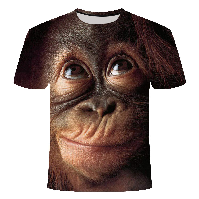 Hot 3D Orangutan T-shirt 2019 Men And Women Fashion Animal Print Funny Monkey Short Sleeve Summer Top T-Shirt T-Shirt Men S-6XL