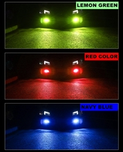 2 шт Светодиодная Лампочка С H8 H11 Автомобильная Противо-Туманная светильник H3 H27 880 881 9005 HB3 9006 HB4 лимонно-зеленый цвет, автомобильные лампы 1200LM ...