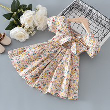 Baby Girls summer clothes floral short sleeve dress for toddler girls baby clothing 1 year birthday princess party dresses dress