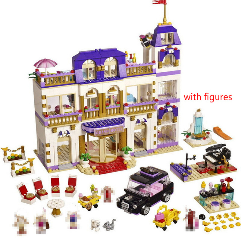 10547 The Heartlake Grand Hotel Model Building Blocks Bricks Toys For Girl Gift Compatible With  41101 Friends