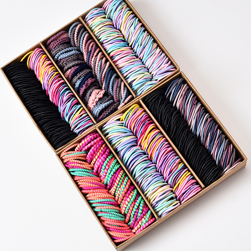 Rubber-Band Hair-Accessories Scrunchie Elastic-Hair-Bands Nylon Candy-Colors Girls Fashion