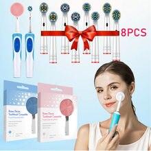 Cabeças da escova de dentes da substituição para a precisão oral-b limpa/branco 3d/ação do fio/ação transversal/cabeças sensíveis da escova de dentes elétrica