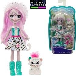 Enchantimals куклы Сибилл снежного барса и кукурузных хлопьев поп-персонажем куклы Fnh22-gjx42-оригинальный лицензионный игрушка-подарок девушке игр...