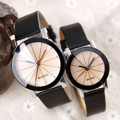 Men Women Fashion Alloy Faux Leather Watches Couple Quartz Sports Dress Wrist Watch Lover Gift Zegarek Damski Relojes Hombre