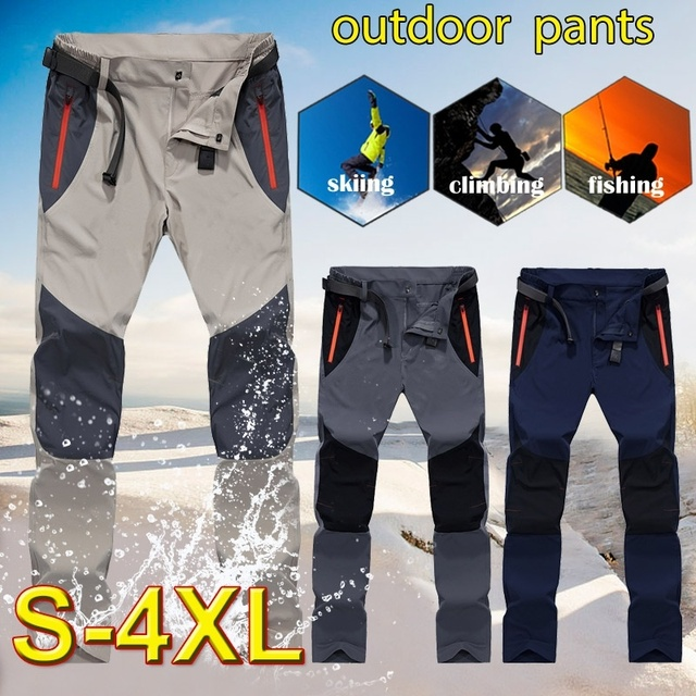 Tactical Waterproof Pants Men Cargo Spring Summer Quick Dry Trousers Men's Outdoor Sports Trekking Camping Fishing Pants 4XL 20