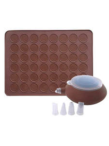 Silicone Mat Macaroon-Kit Baking-Mold-Set Cake-Decorating-Supplies Non-Stick 48-Capacity