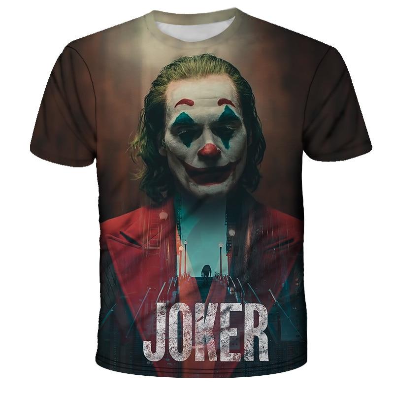 3D Print Men Women 2019 Movie Joker  Joker Casual Harajuku T-shirt Summer Tshirt Youth Short Sleeve Big Size 6XL