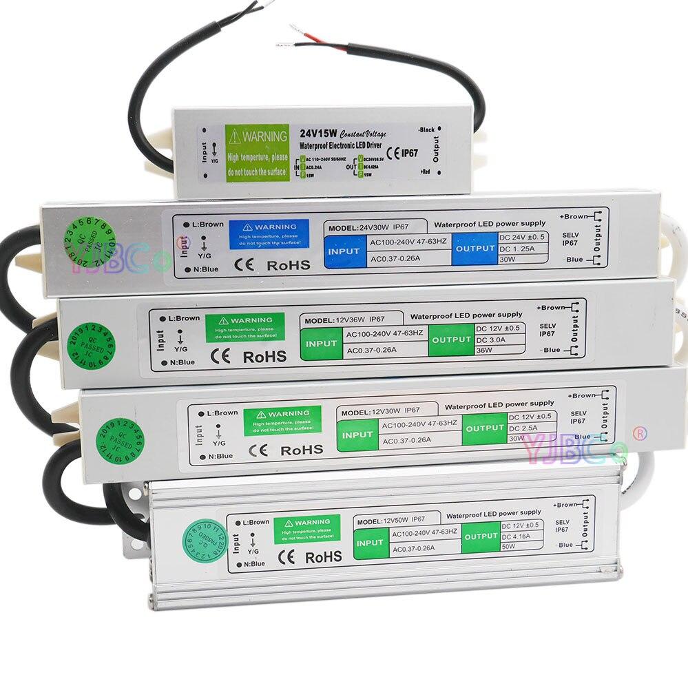 DC 12V/24V водонепроницаемый IP67 Светодиодный драйвер 10W 15W 20W 25W 30W 36W 45W 50W 60W 80W 100W 120W 150W Светодиодный светильник питания|Трансформаторы систем освещения|   | АлиЭкспресс