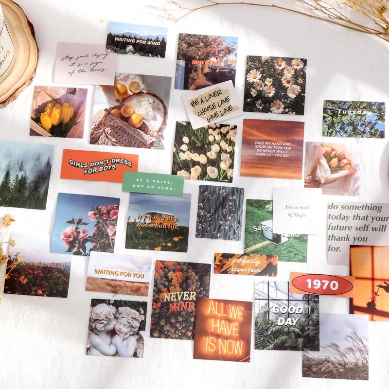 30 шт./компл. потерянный лес декоративные наклейки Скрапбукинг diy ярлыком дневник канцелярские альбом наклейки с космосом