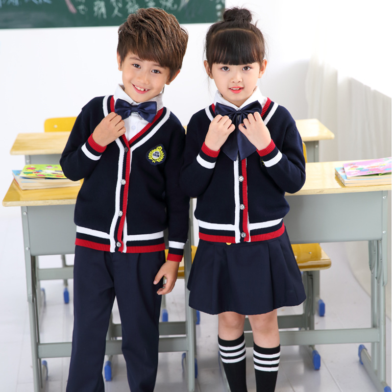 Kindergarten Suit Autumn And Winter New Style Primary School STUDENT'S School Uniform British Style Business Attire Men And Wome