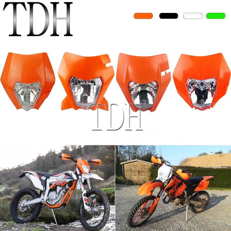 Supermoto Headlamp For KTM SX F EXC XCF XCW SMR 125 250 350 500 Six Day MX Enduro Headlight Front Lamp Mask 2012-2019 Lighting
